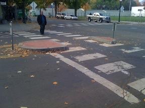 Pedestrian Refuge Median