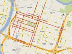 3-lane streets