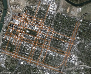 1-way streets in downtown/midtown