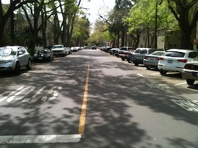 17th Street diagonal parking