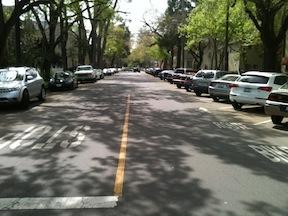 17th Street diagonal parking
