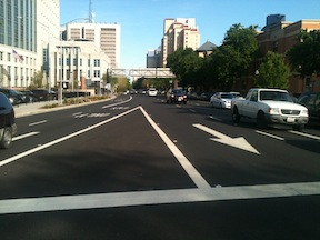 I Street from the 4th Street crosswalk
