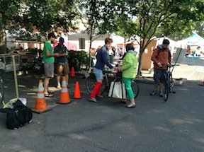 bike valet at Midtown Farmers Market
