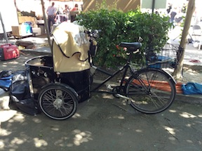 cargo bike at Midtown Farmers Market