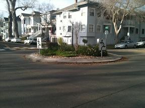 traffic circle, 13th & F, Sacramento