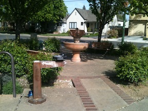 water fountain in the M Street mini-park