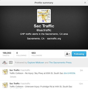 @sactraffic twitter profile