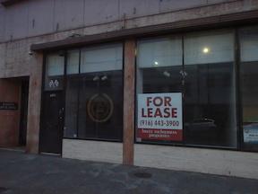 dead zone on 1000 block of J Street, downtown Sacramento