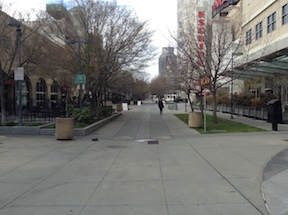 K Street pedestrian plaza between 11th and 12th
