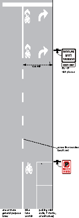 MUTCD type combined bike right turn