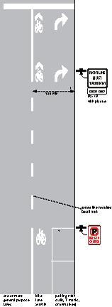 MUTCD type combined bike right turn