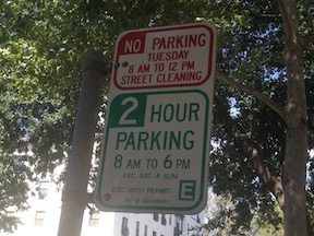 timed parking and residential permit