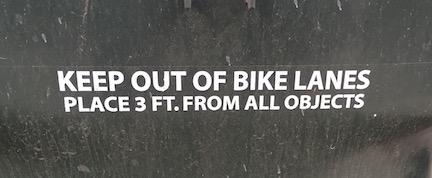 Trashing the bikelanes