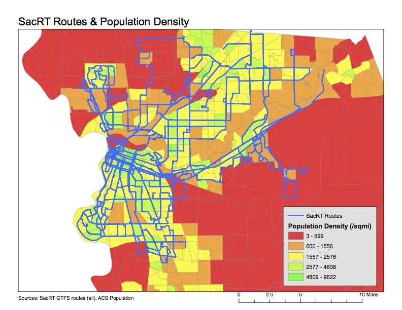 SacRT with density and income Getting Around Sacramento